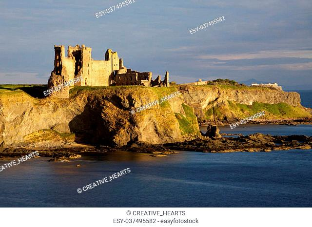 Tantallon Castle is a semi-ruined cliff-top fortress in East Lothian, Scotland dating to the mid-14th century and with historic connections to the Douglas...
