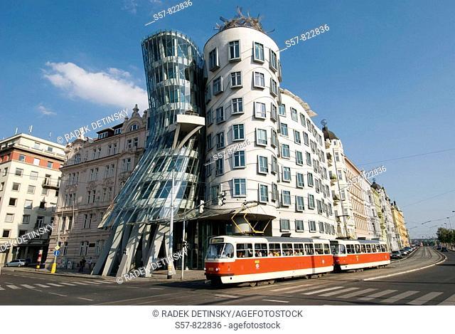 modern architecture, Dancing House, Prague, Czech Republic