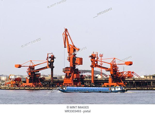 Industrial Cranes at Port