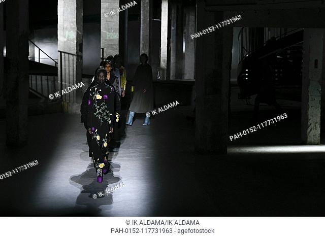 Dries Van Noten runway show during Paris Fashion Week, AW19, Autumn Winter 2019 collection - Paris, France 27/02/2019   usage worldwide