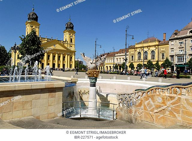 Reformed church, city square of Debrecen, Hungaria