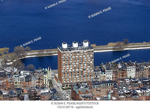 Back Bay neighborhood and the Charles River, Boston, Massachusetts, United States