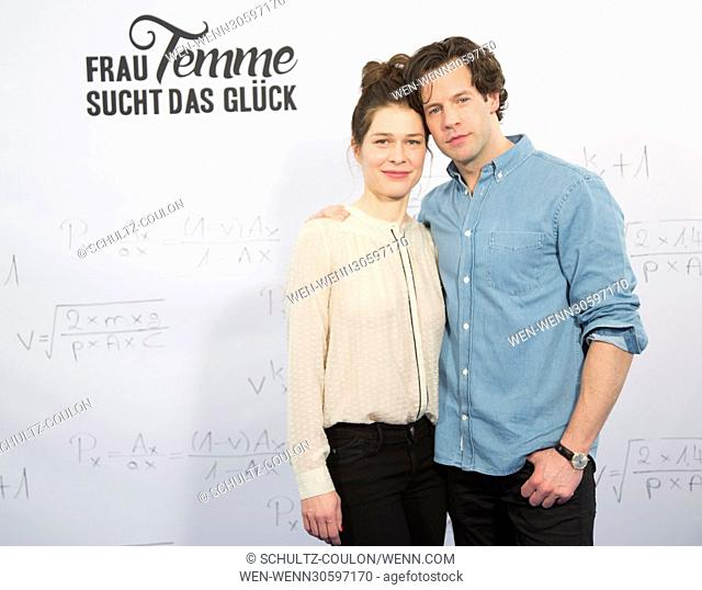 """Actors promoting the new Series """"""""Frau Temme sucht das Glueck"""""""" at Side Hotel Featuring: Meike Droste, Mikael Svensson Where: Hamburg"""