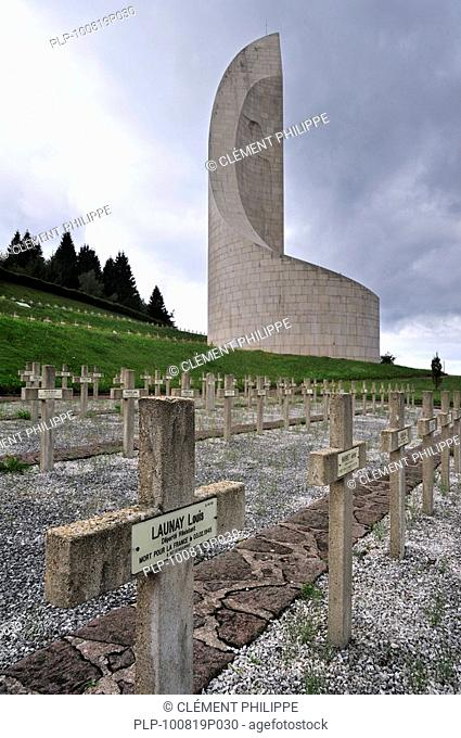 The Monument to the Departed at Natzweiler-Struthof, the only concentration camp established by the Nazis on French territory, Alsace, France