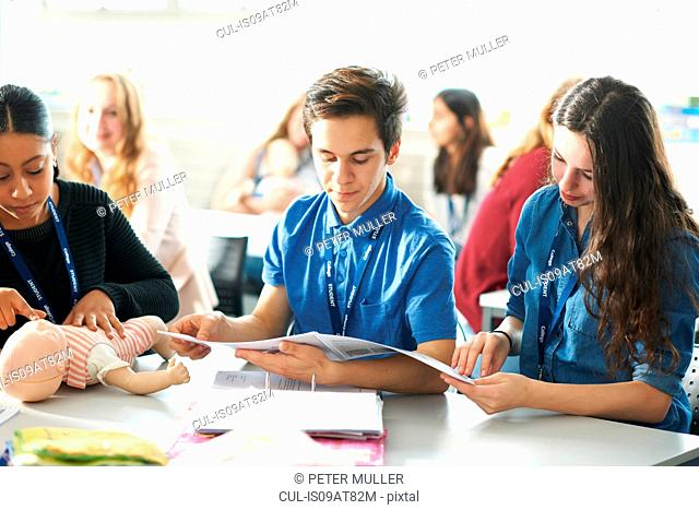 College students in Childcare class