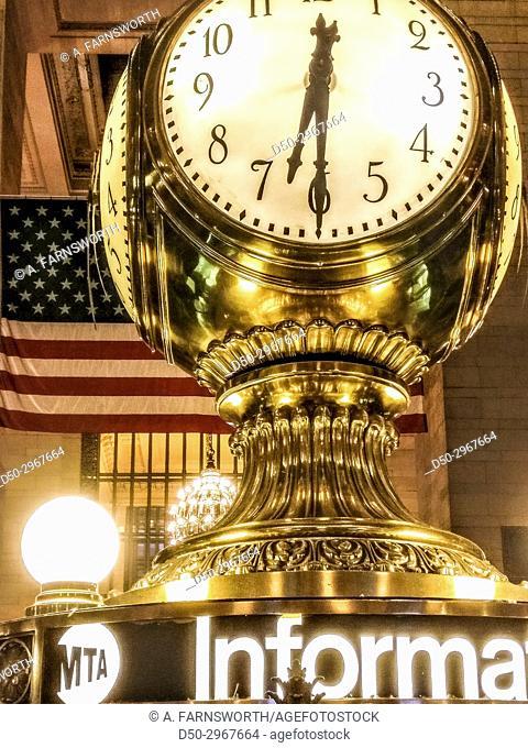 New York, NY The clock at Grand Central Terminal