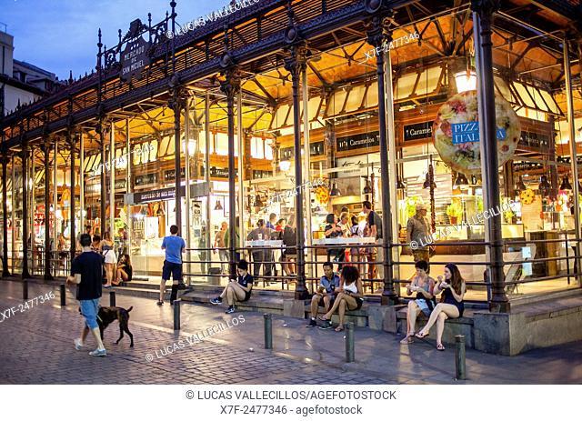 San Miguel market, in Plaza de San Miguel. Madrid. Spain
