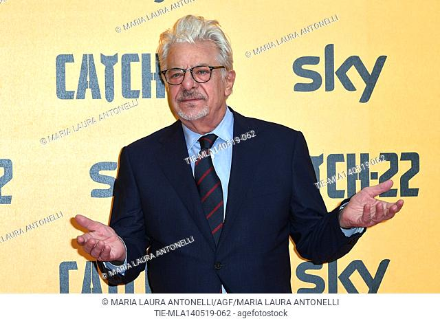 Giancarlo Giannini during the Red carpet for the Premiere of film tv Catch-22, Rome, ITALY-13-05-2019