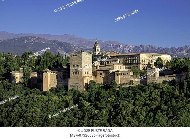 Spain, Andalucia, Granada City, The Alhambra, UNESCO (W.H.)