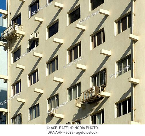 Pattern of light and shade in modern building at Nariman Point , Bombay now Mumbai , Maharashtra , India