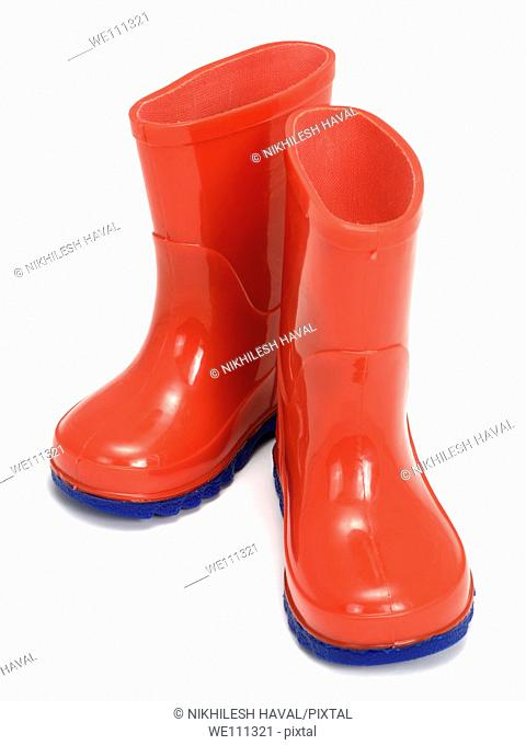 Red gumboots welly