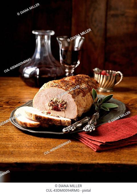 Turkey and chicken ballotine stuffing
