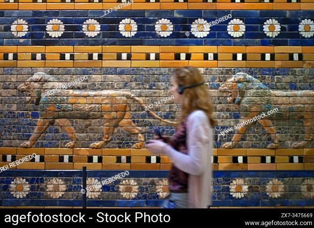 Reconstruction of the Processional Way of Babylon at Pergamon Museum, Museumsinsel (Museum Island), Berlin-Mitte, Berlin, Germany