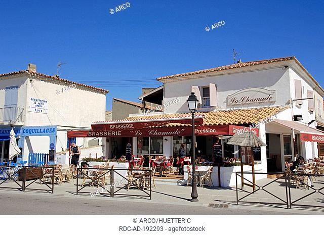 Restaurant, Les Saintes-Maries-de-la-Mer, Camargue, Bouches-du-Rhone, Provence-Alpes-Cote d'Azur, Southern France