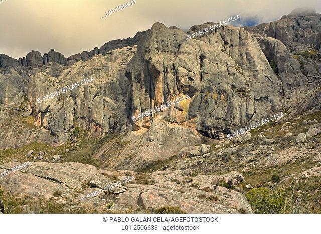 Madagascar, Andringitra National Park, Mountaineous landscape