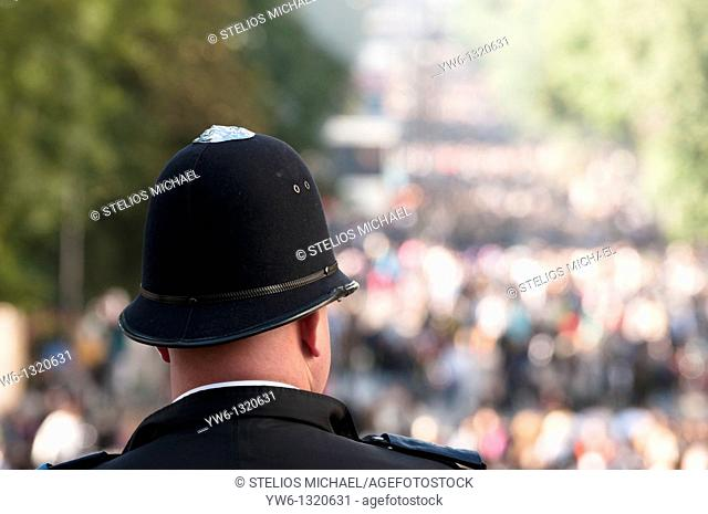 Policeman at the Notting Hill Carnival