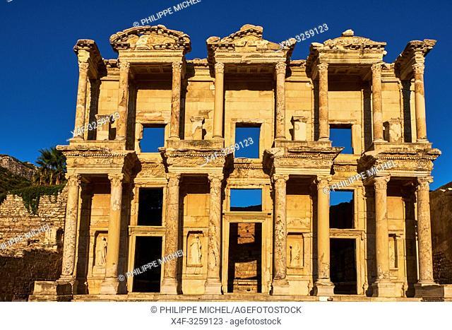 Turkey, Izmir province, Selcuk city, archaeological site of Ephesus, Celsus library
