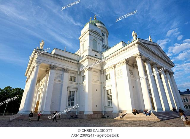 Exterior view of the Evangelical Lutheran Cathedral in Helsinki
