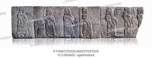 Relief panels orthostat with representation by court officials, they served as a wall covering of palaces at the castle of Sam'al - Zincirli