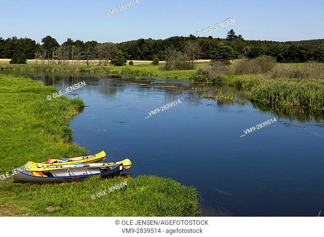 Gudenå - a small Danish river popular for Kayaking. Photo is taken a few miles north of Silkeborg. Svostrup Kro, Svostrupvej,Silkeborg. Denmark