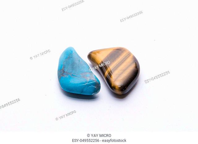 Blue and brown gemstone gem jewel mineral precious shiny