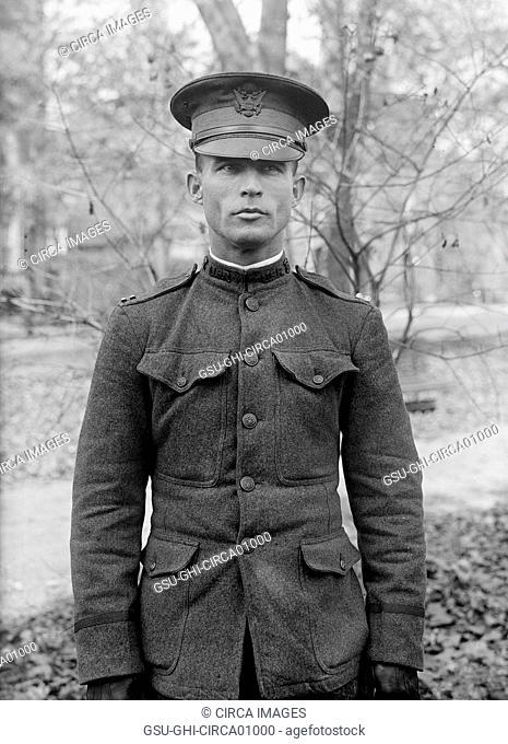 U.S. Army Captain in Uniform, Portrait, USA, circa 1916