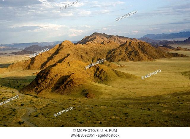 Naukluft mountains, aerial photo, Namibia, Namib Naukluft National Park