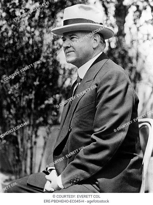 Former President Herbert Hoover 1874-1964, U.S. President 1929-1933, circa 1937
