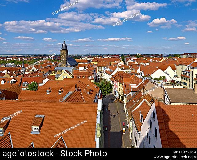 City view with Magarethenkirche, Gotha, Thuringia, Germany