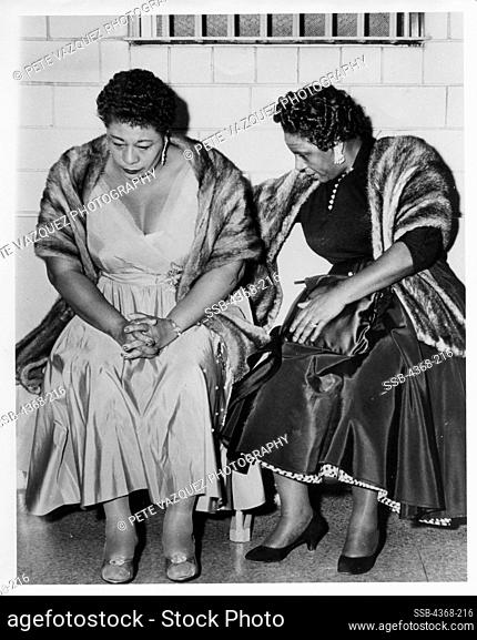 USA, Texas, Huston, Ella Fitzgerald and Georgiana Henry in police department