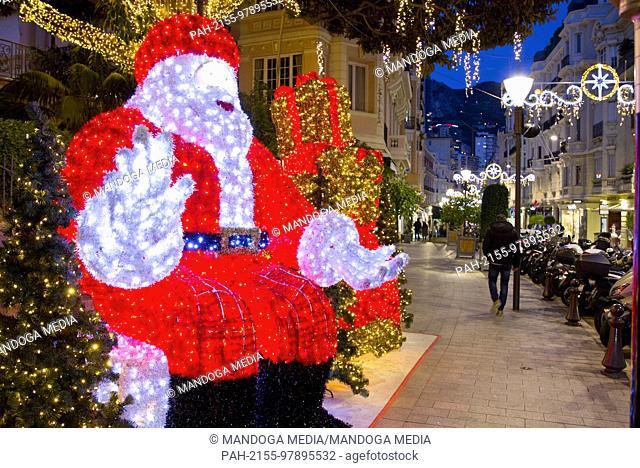 Monte Carlo, Monaco - December 12, 2017: Christmas Atmosphere in Monaco, Noel a Monaco | usage worldwide. - Monte Carlo/Monaco