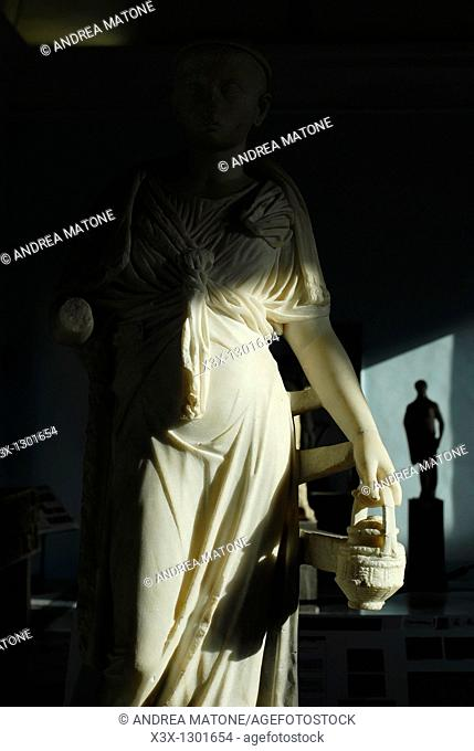 "Statue of the Iside priestess Regional Archaeological Museum ""Antonio Salinas"" Palermo Sicily Italy"