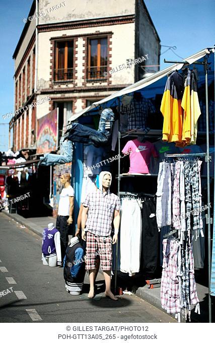 France, ile de france, paris, 18e arrondissement, porte de clignancourt, marche aux puces de saint ouen, Photo Gilles Targat