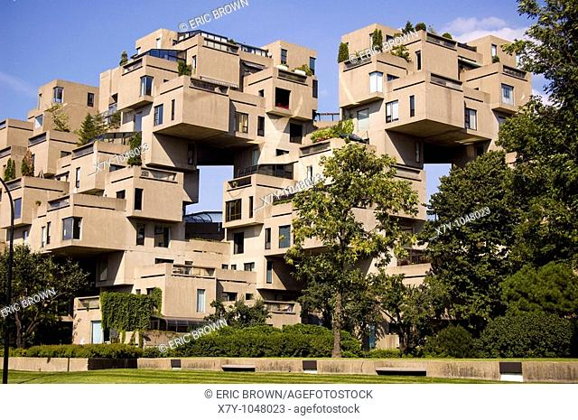 Habitat 67, an apartment building in Quebec, Canada