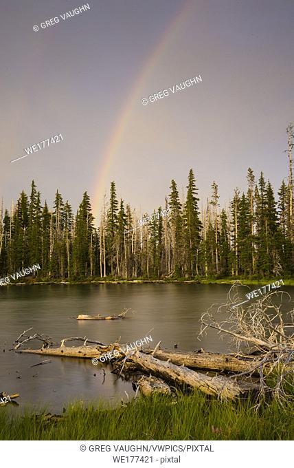 Rainbow over Jack Lake, Cascade Mountains, Central Oregon