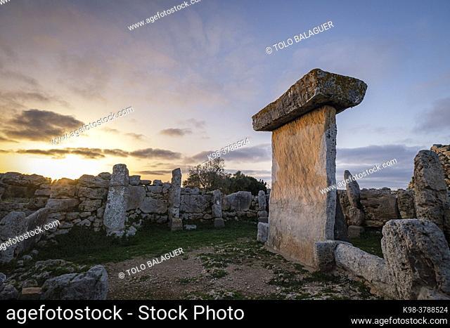 Trepucó, talayotic settlement, Maó, Menorca, Balearic Islands, Spain