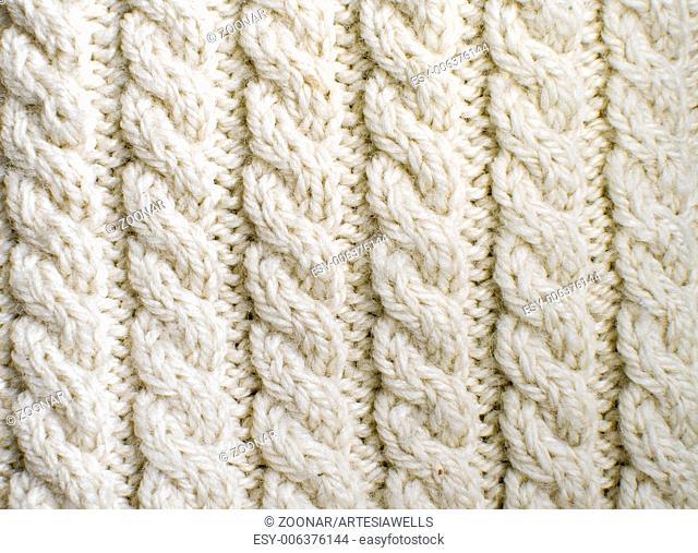 Creamy off-white wool knit work