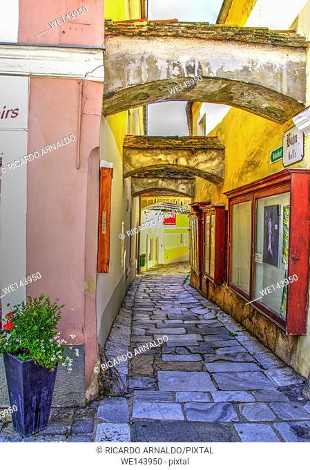 Alley in Melk's Old Town, Austria
