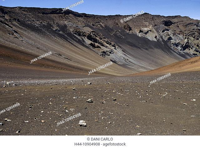 kalua o ka oo, haleakala, landscape, rock, national park, Maui Island, Hawaii, USA, United States, America