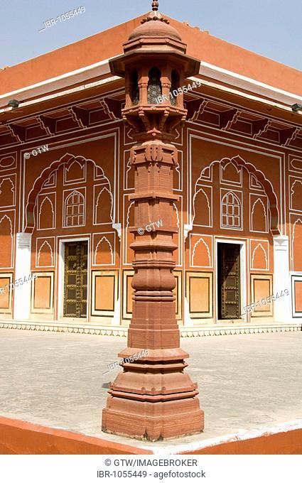 Jaipur City Palace of Jai Singh II, Diwan-i-Khas, Hall of Private Audience, Rajasthan, India, South Asia