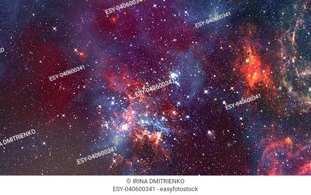 Cosmic galaxy background with nebula, stardust and bright shining stars. Elements of this image furnished by NASA