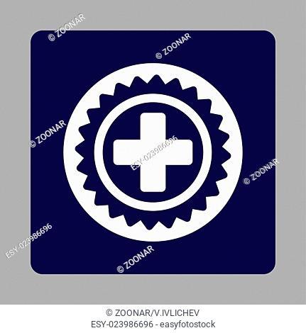 Medical Stamp Flat Button