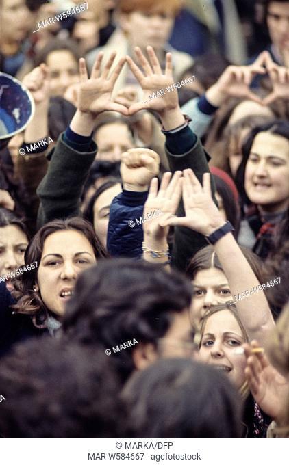 femminist demonstation, 70's