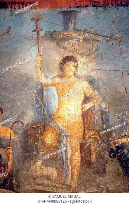 Italy, Naples, Naples Museum, from Pompeii, Gavius Rufus House VII 2, 16-17, Dionysus Stibadium