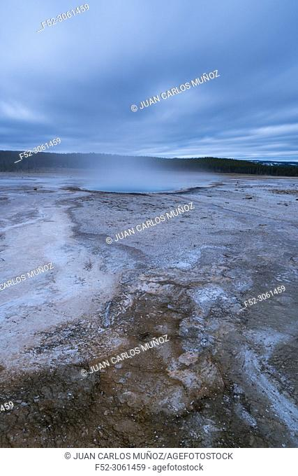 Hot Springs, Yellowstone National Park, Unesco World Heritage Site, Wyoming, Usa, America