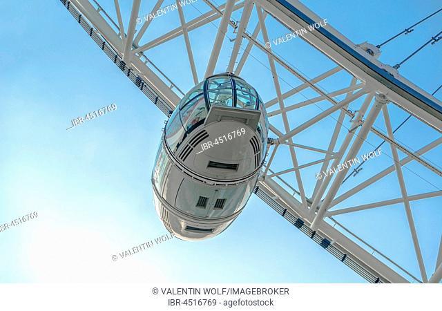 Gondola, London Eye, Partial View, London, London region, England, United Kingdom