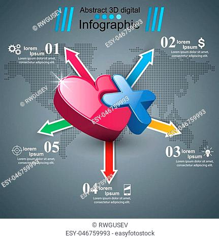 Business Infographics origami style Vector illustration. Infographic icon