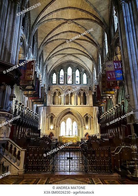 Inside Saint Patrickâ. . s Cathedral, Dublin, Ireland, Europe