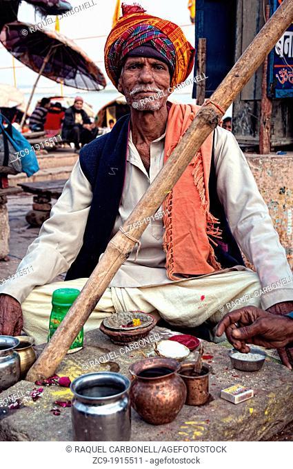 Brahmin  Varanasi, Benares, Uttar Pradesh, India