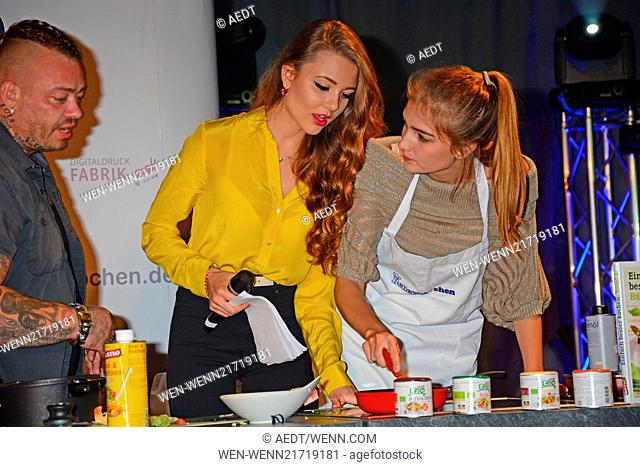 Benefizkochen (Benefit cooking) in aid of Kinderhospiz Sonnenhof at Hotel Best Western Moa. Featuring: Joelina Drews,Antonia (GNTM) Where: Berlin